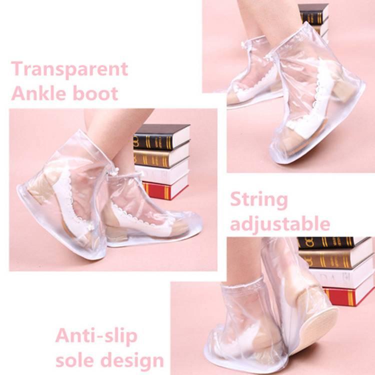 Clear OEM Design Zipper Lock Over Shoes Rain Cover