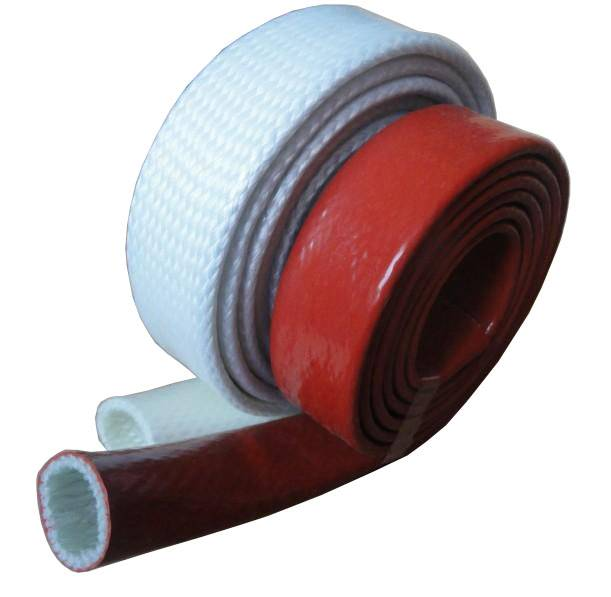 Fiberglass braided sleeving coated with silicone resin