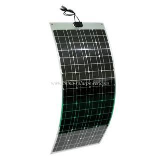 Oxide Aluminum Back Sheet Semi Flexible Solar Panel 100W