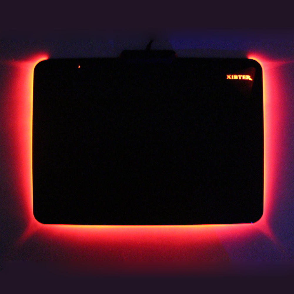 Xibter Luminous Gaming Mouse Pad For Gamer Play Games Led Light Non-skid Rubber Material Mousepad