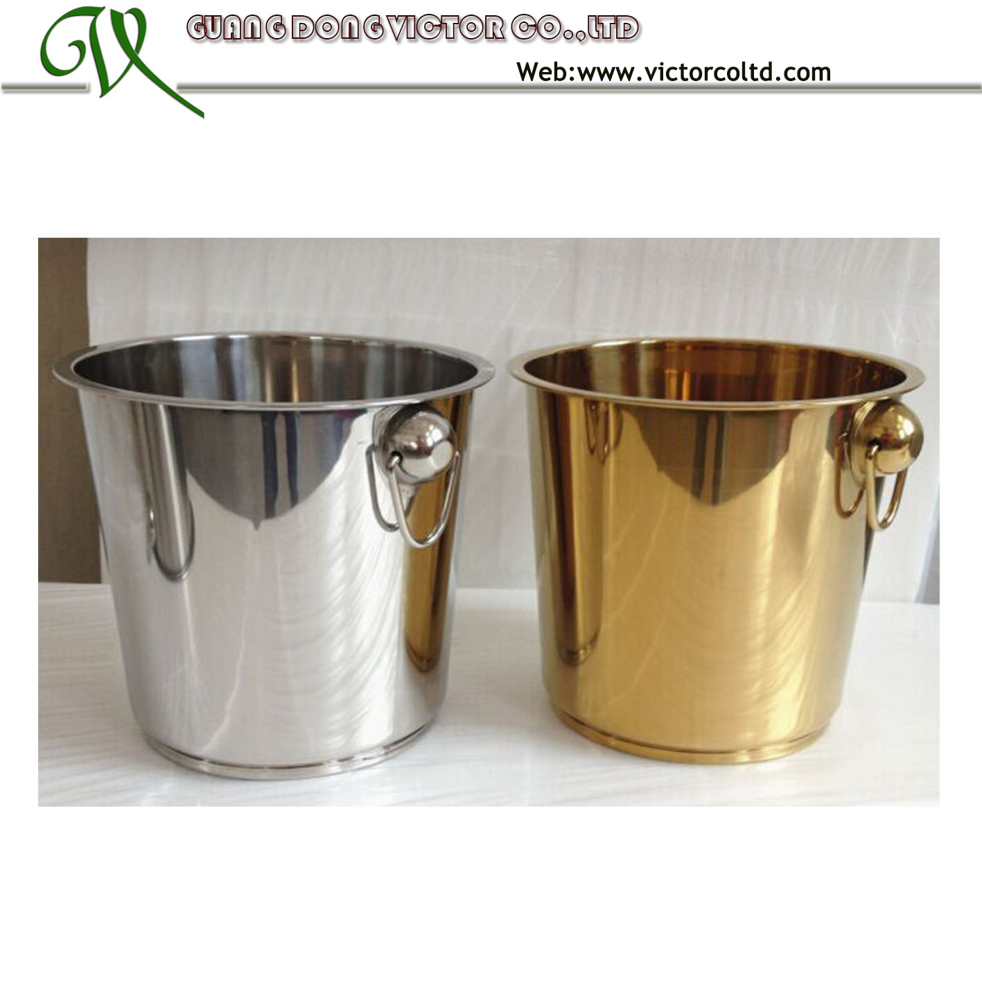 stainless steel ice bucket 7L 9L
