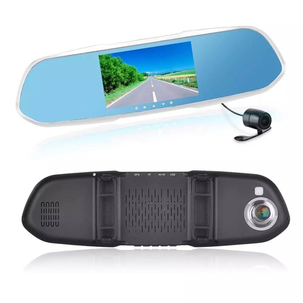 DR101 Driving Recorder Car Detector DVR rearview Mirror Camera $99