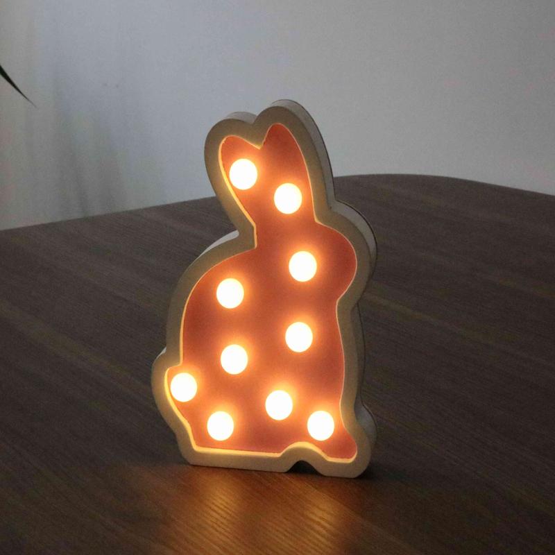 Easter decorative bunny night light gift for children