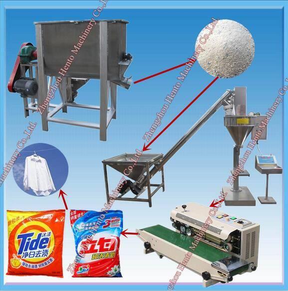 Detergent Powder Making Machine with Detergent Powder Filling Packing Machine