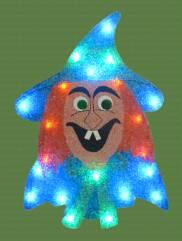 EVA&LED Halloween decorative lights,Witch