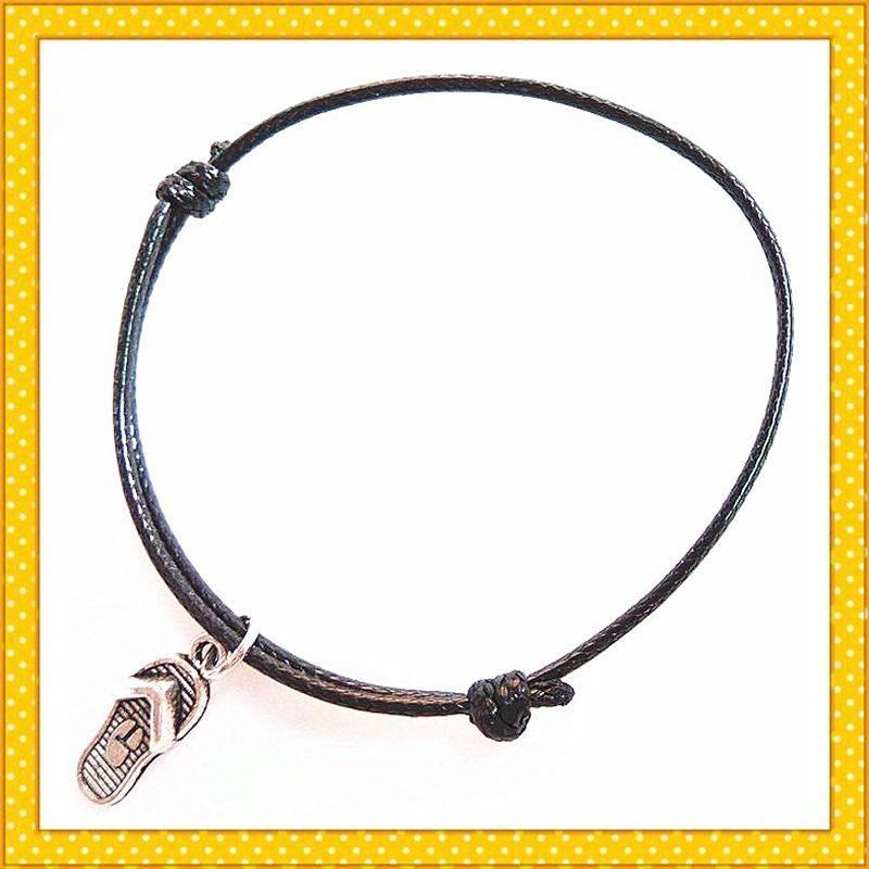 adjustable wax rope handmade charm bracelet