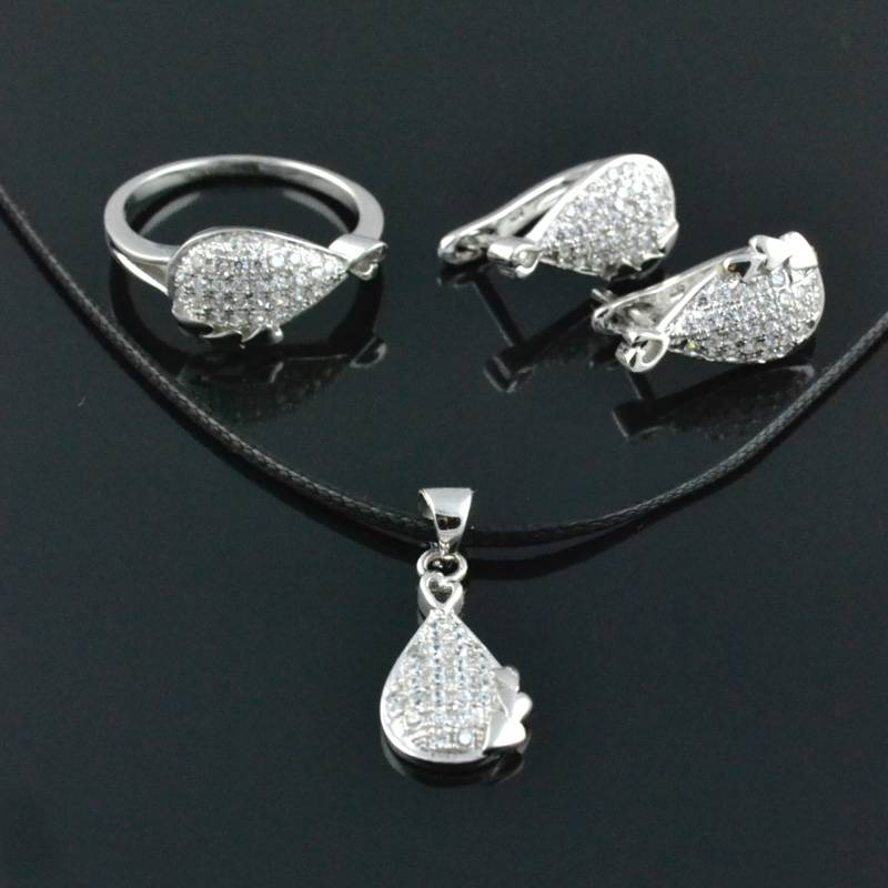 925 Silver Jewelry Sets Silver Rings Fashion Jewelry Sets