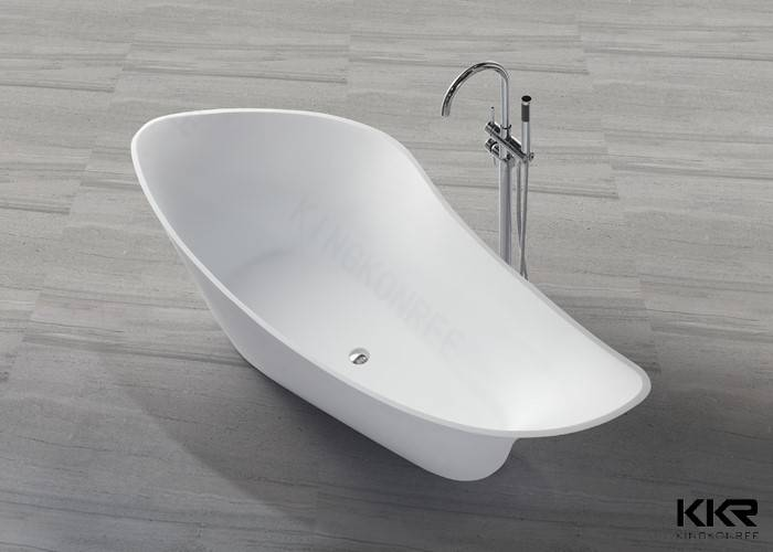 OEM White Free Standing Solid Surface Stone Resin Bathtub, 100% Fresh ...