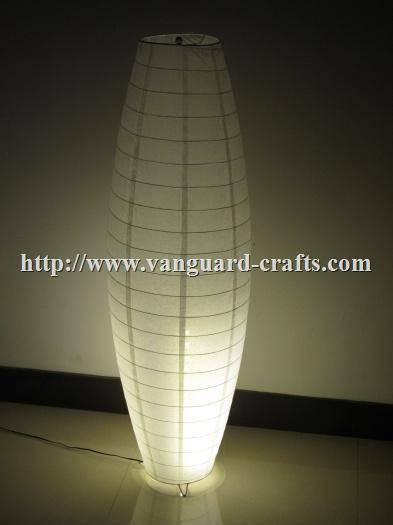 Oval Shape Paper Floor Lamp