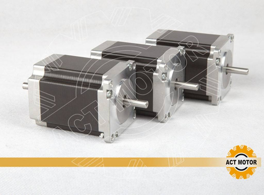 3PCS ACT Nema23 Stepper Motor 23HS8630B Dual Shaft