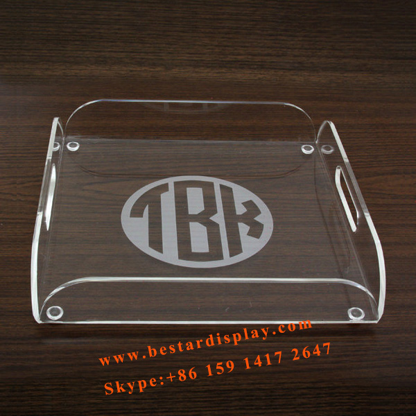 Good quality custom square Plexiglass PMMA acrylict tray