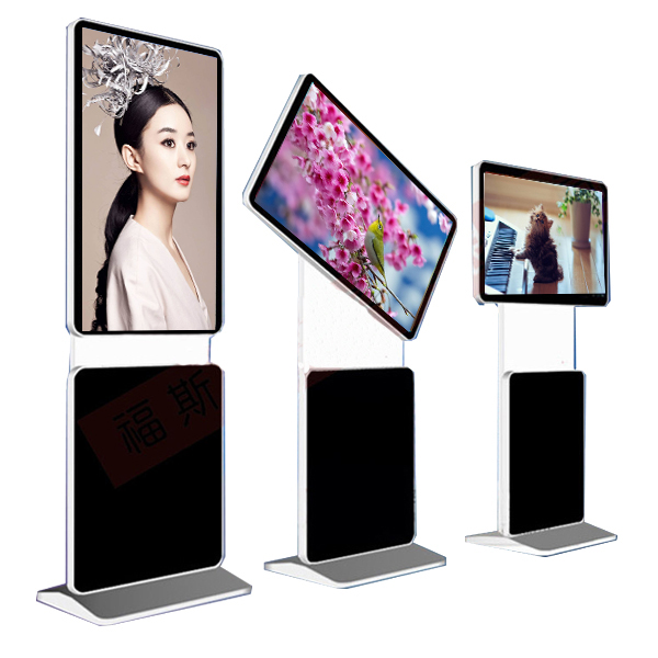 "55"" Indoor TFT LCD Rotate Floor stand lcd touch screen advertising display for advertising"