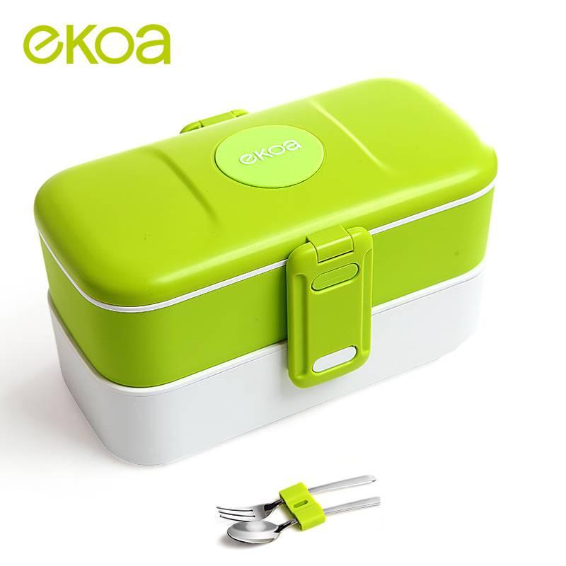 Ekoa new double layer plastic take away lunch box