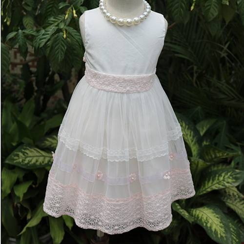 Pink lace flower ruffle girl dress unique girl names images for baby princess