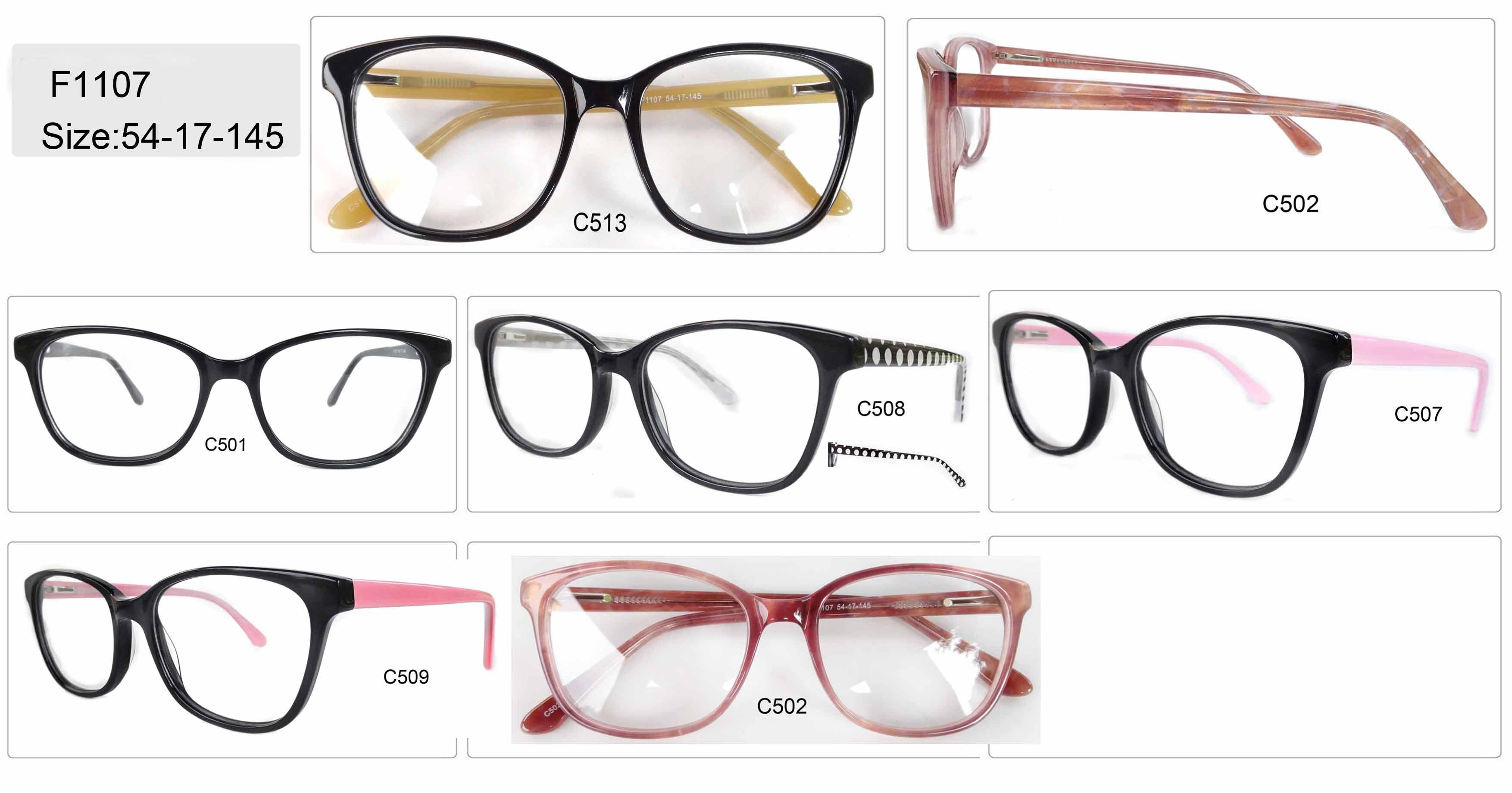 Acetate regular stock eyeglasses frames, optical frames, eyewear, spring hinge
