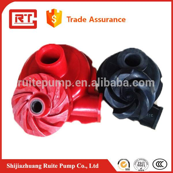 Rubber lined impeller for slurry pump