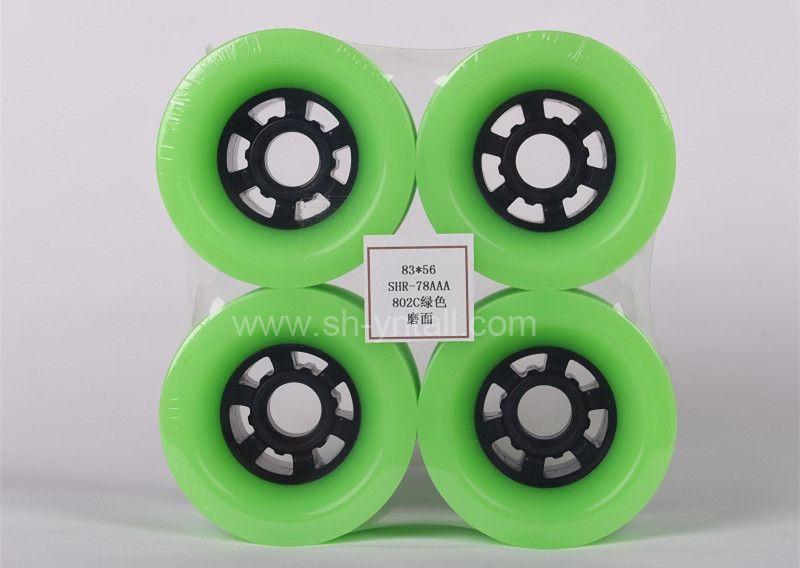 pu wheels for skate board8356 green pu wheels for skate board