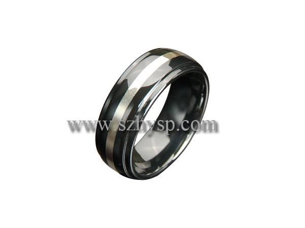 Ceramic Ring RIS004(925 silver inlaid)