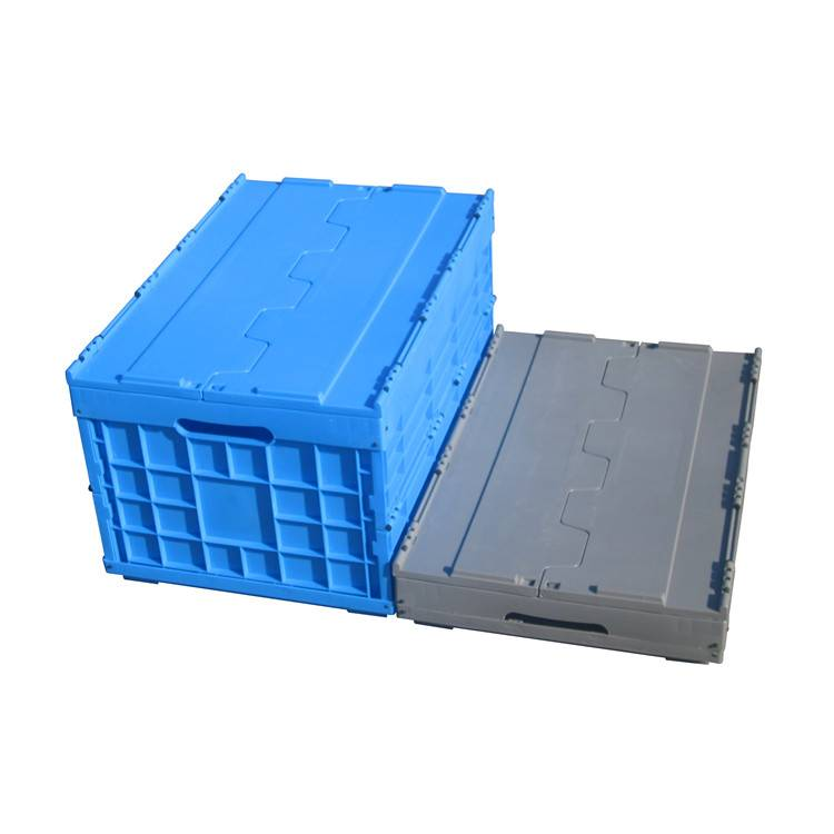 600*400*330mm folding feature plastic material solid type turnover box