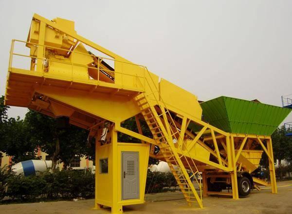 mobile concrete mixing plant HZS25