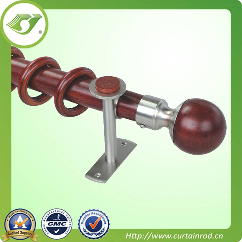 fancy wooden finial curtain rod,curtain rod parts