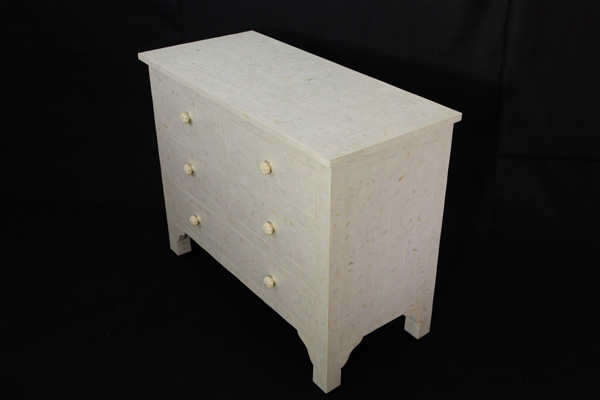 Bone Inlay 4 Drawer Sideboard