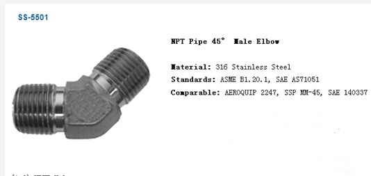 Npt Pipe 45 Male Elbow