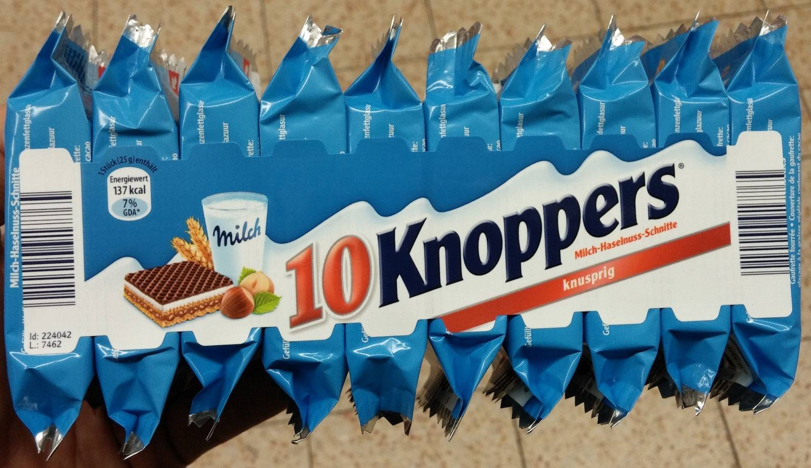 German Storck Knoppers Chocolate Waffles