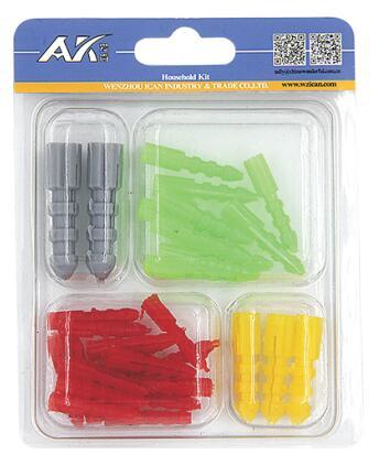 30PCS Assorted Plastic Anchor Kit
