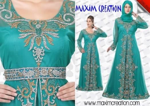 New Islamic Arabian Dubai Fancy Ladies Wedding Gown Dress