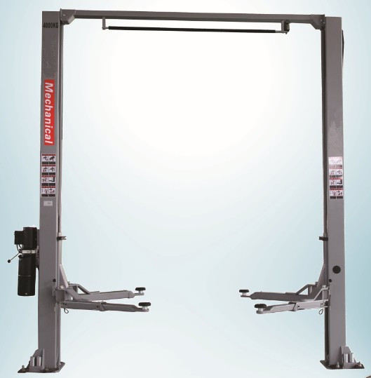 manual lock release clear floor 2 post car lift 4000kgs