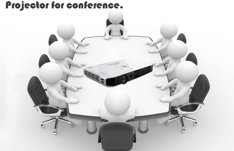 DLP 3d Projector Portable LED Projector 1080p Full HD for Office meeting