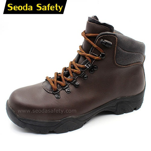 Steel toe ankle safety shoes