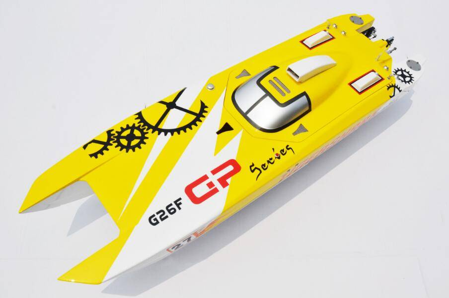 30cc/26cc G30F Tiger Shark RC Racing high-speed Gasoline Boat Model With Welbro Carbutor