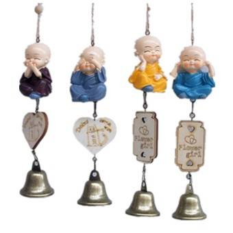 Resin wind chime, Four Nos little monk