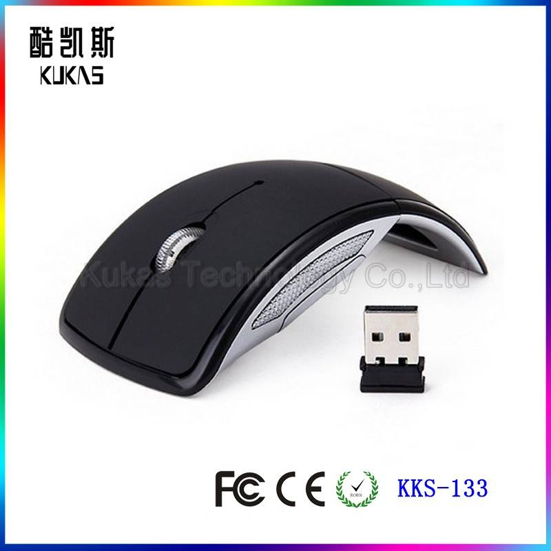 KKS-133 Wireless Mouse Foldable Mouse 2.4ghz Usb Wireless Mouse Folding Arc Mouse