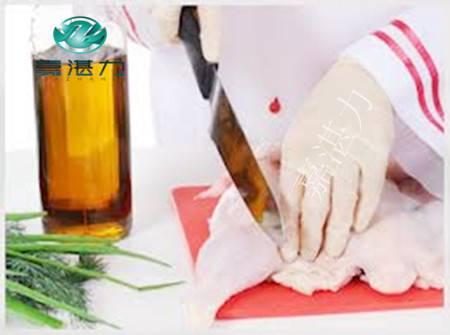 Milky white household cotton latex gloves
