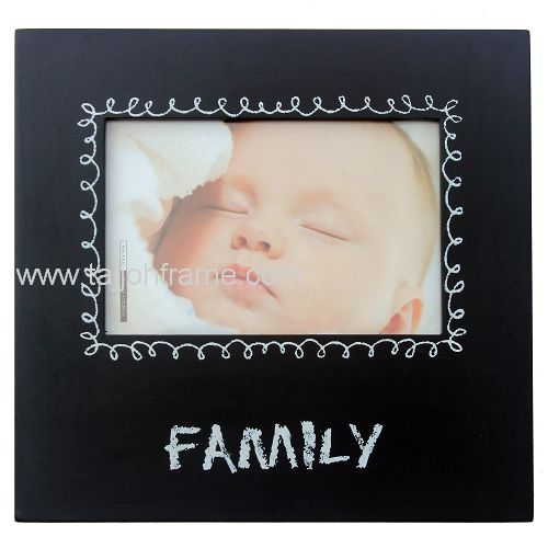 New Modern Family Screen Printing Wooden Photo Frame