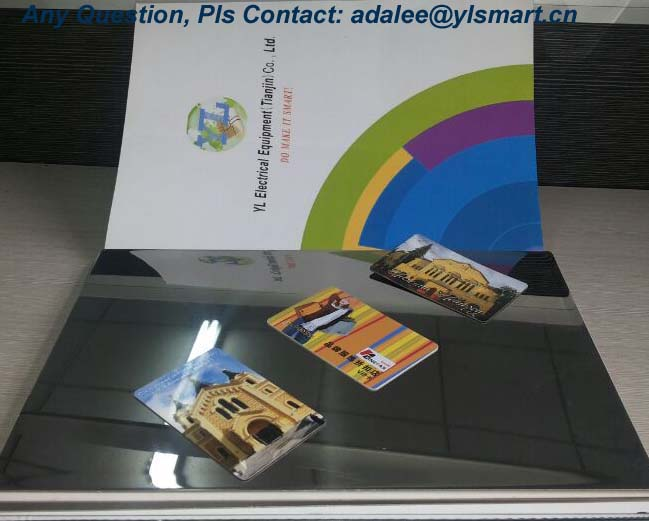 Glossy Finish Card Lamination Steel Plate YSP-G