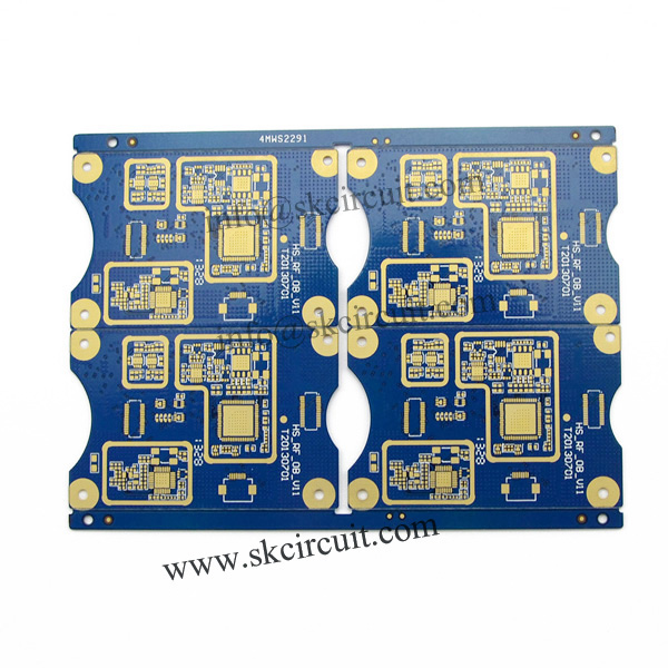 4 layer PCB with board thickness 1.6mm surface finish HASL Lead free , and copper 1 oz