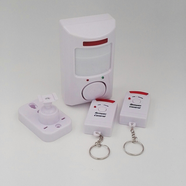 Wireless Pir Motion Sensor Detector Alarm With 2 Remote Controls