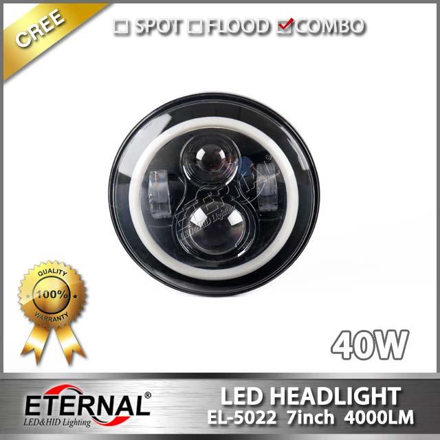 7in 40W LED headlight offroad led projector headlamp signal PAR56 for Wrangler JK CJ YJ TJ truck tr