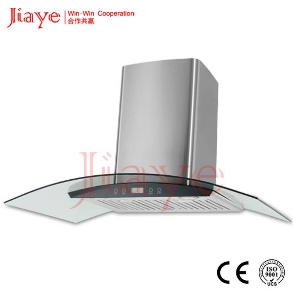 Baffle filter fume hood/3 speed extractor hood for kitchen used JY-HP9034