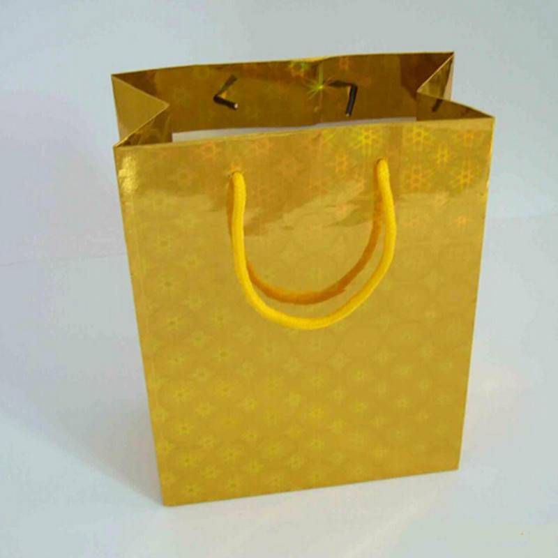 Recyclabe goldstamping laser material paper bag