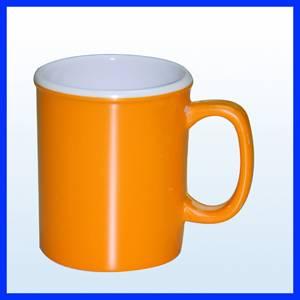 two tone color /two layer melamine mug
