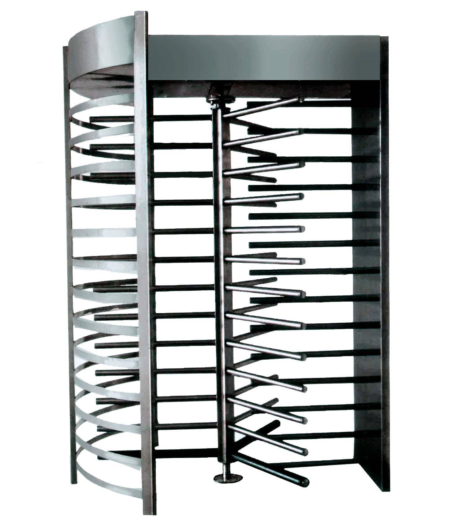 Full height security turnstile for prison usage