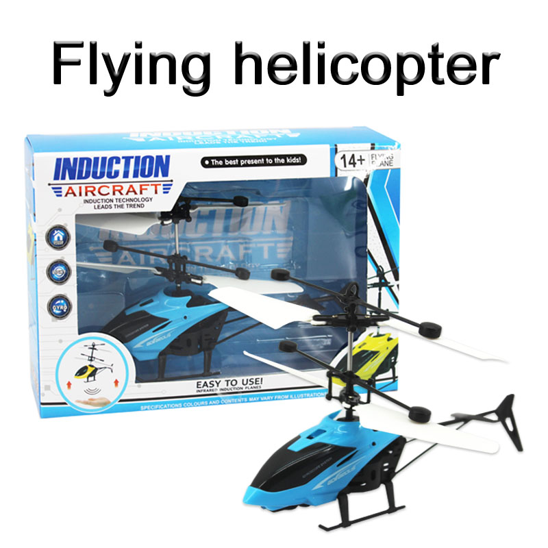 kids gift flyer toys infrared hand sensor flying helicopter