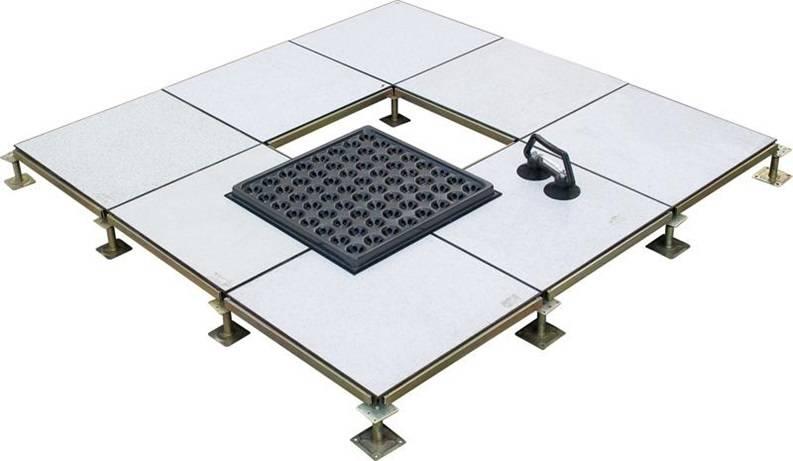 Steel anti-static access floor