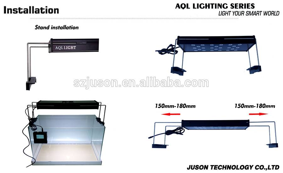 "Wholesale intelligent aquarium led lighting with remote controller fit for 16"" to 60"" aquarium tank"