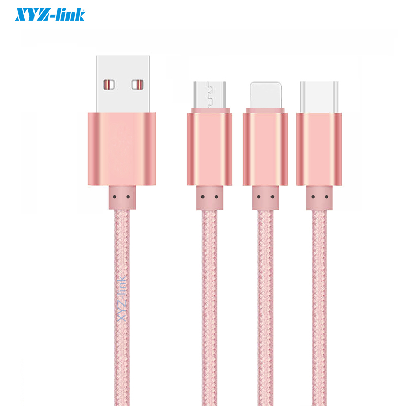China wholesale super Speed nylon braided micro usb cable